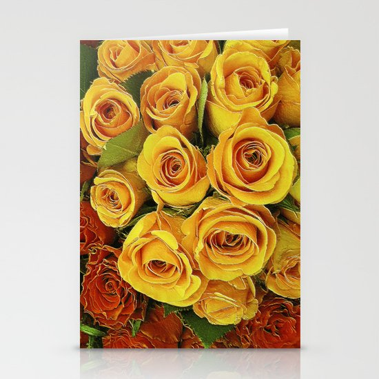A Case of LOVE! (hot roses) Stationery Card