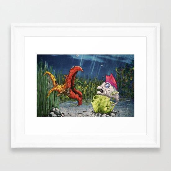 mutant and punk fish Framed Art Print