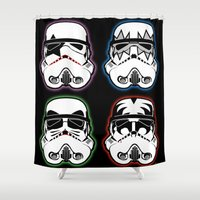 Kiss Troopers Shower Curtain