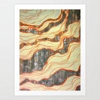 Catwrestling Art Print