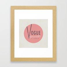 """Vintage Typewriter Tin Lids Series: """"Vogue"""" Framed Art Print"""