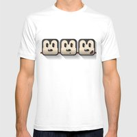 faces of mickey mouse Mens Fitted Tee White SMALL