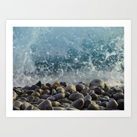 Splash Of Waves Art Print