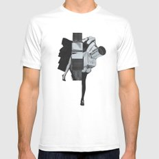 Wisconsin Avenue SMALL White Mens Fitted Tee