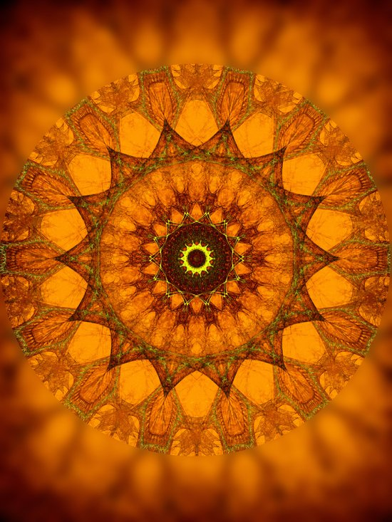Prince of Sunrise Mandala Art Print