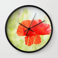 Coquelicot Wall Clock