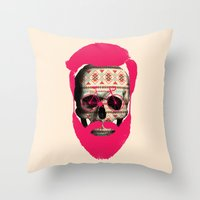 THE AUTUMN BIKER Throw Pillow