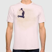 Pipe Ride Mens Fitted Tee Light Pink SMALL