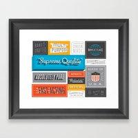 Credentials Framed Art Print