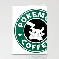 Pokemon Coffee Stationery Cards