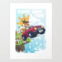 Don´t give a fox Art Print