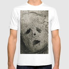 lost SMALL White Mens Fitted Tee