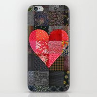 Patched Heart iPhone & iPod Skin