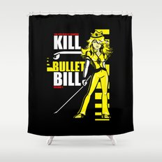 Kill Bullet Bill (Black/Yellow Variant) Shower Curtain