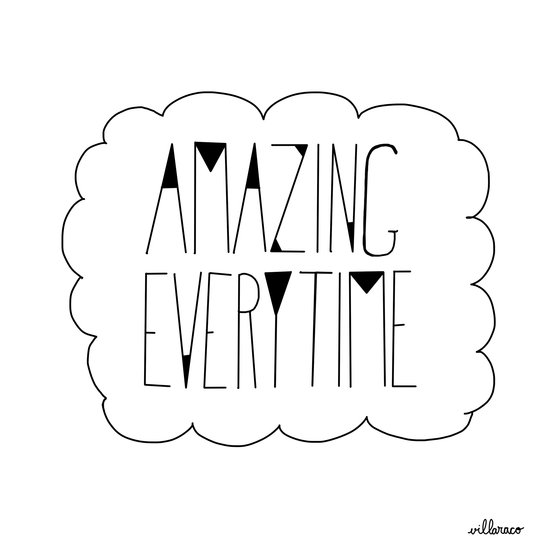 (be) Amazing everytime Art Print