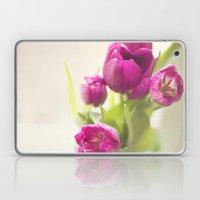 Purple Tulips In A Jar Laptop & iPad Skin
