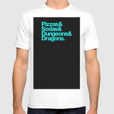 Dungeons & Dragons & Swag Mens Fitted Tee SMALL White