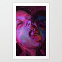La Chica Loca Art Print