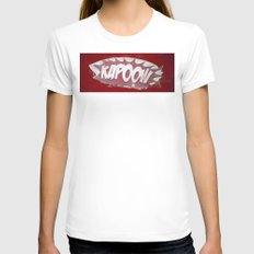 kapoow Womens Fitted Tee White SMALL