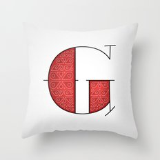 The Letter G Throw Pillow