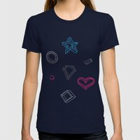 Hipster figures  Womens Fitted Tee Navy SMALL