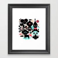 We make a nice team Framed Art Print