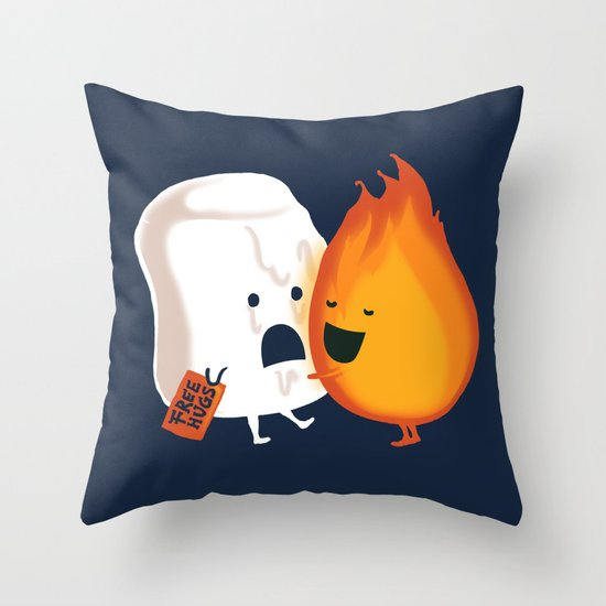 Friendly Fire Throw Pillow