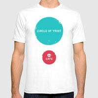 Circle Of Trust Vs. Cats Mens Fitted Tee White SMALL