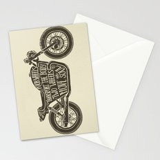 Two wheels move the soul Stationery Cards