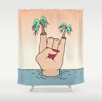 ROCK THE BEACH Shower Curtain