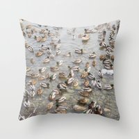 Mallard Ducks Throw Pillow