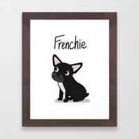 Black Frenchie - Cute Do… Framed Art Print