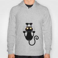 Black Cat Cartoon Scratc… Hoody
