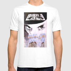 La Naranja Mecánica White SMALL Mens Fitted Tee