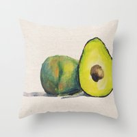 Throw Pillow featuring Avocados by Devin Sullivan