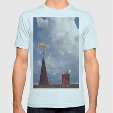 Seagulls on the roof Mens Fitted Tee Light Blue SMALL