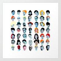 Heads 02 Art Print