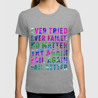 Fail Better Womens Fitted Tee Tri-Grey SMALL