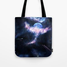 Space Scene Zero One Tote Bag