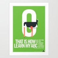 Animal Alphabet O Art Print