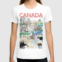 Canada (portrait Version… Womens Fitted Tee White SMALL