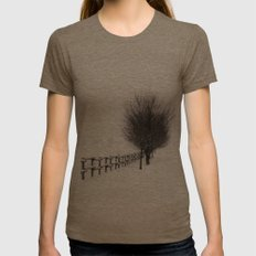 The Magic of Snow Womens Fitted Tee Tri-Coffee SMALL