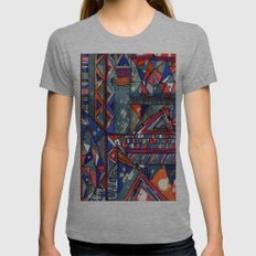 Tribal Texture Womens Fitted Tee Athletic Grey SMALL