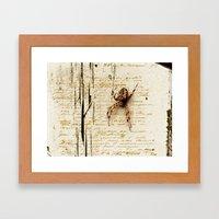 Spider Letter Framed Art Print