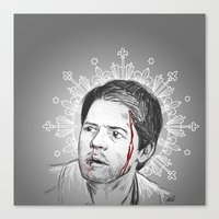 always happy to bleed for the Winchesters Canvas Print