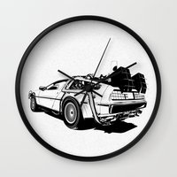DeLorean / BW Wall Clock