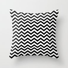 Keep Calm And Dream On (Zig Zag Chevron Black Lodge Floor, Twin Peaks) Throw Pillow