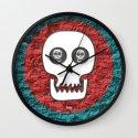 Skull Poppy Wall Clock