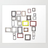 Art Print featuring Art, Art Everywhere, but Not A Frame To Fill. by PintoQuiff