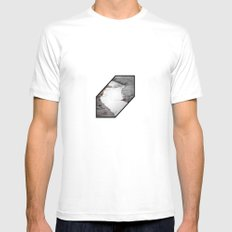silt curve SMALL Mens Fitted Tee White